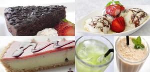 Vegen desserts and drinks